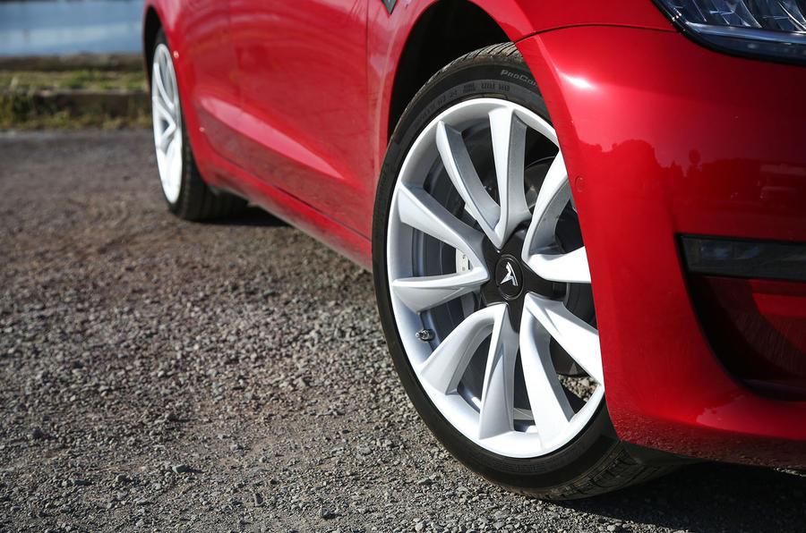 Tesla Model 3 2018 road test review alloy wheels