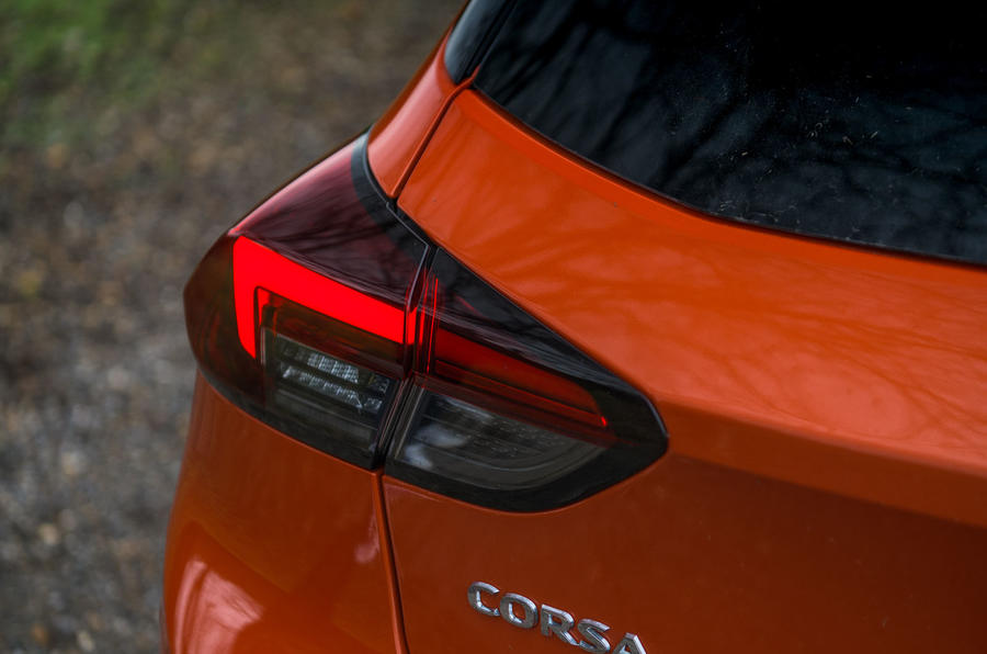 Vauxhall Corsa 2020 road test review - rear lights