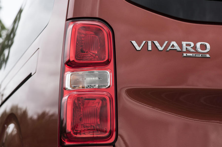 Vauxhall Vivaro Life 2019 road test review - rear lights