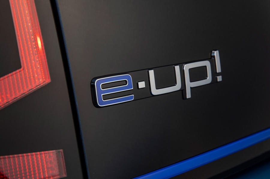 Volkswagen e-Up 2020 road test review - rear badge