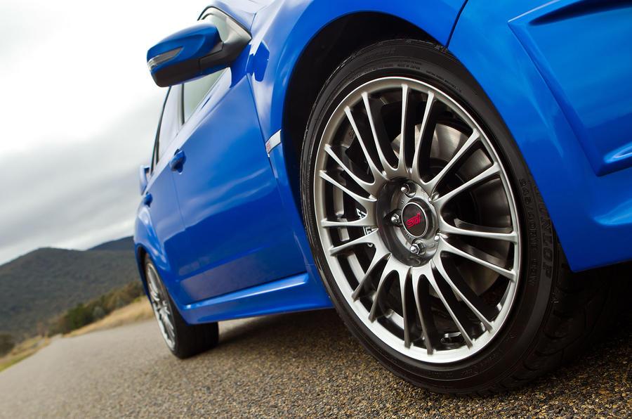 17in Subaru Impreza WRX STI alloys
