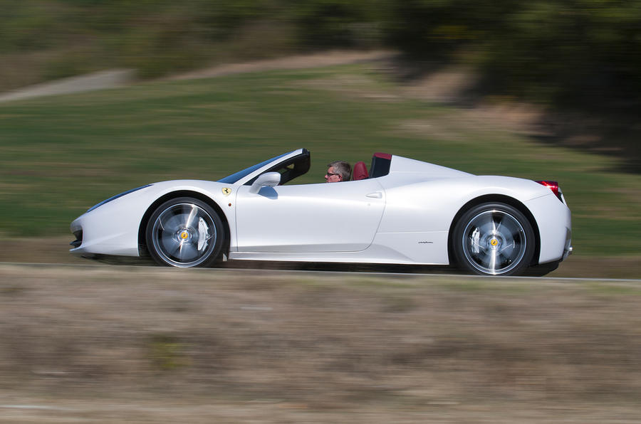 Ferrari 458 Spider side profile