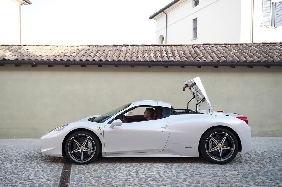 Ferrari 458 Spider roof up