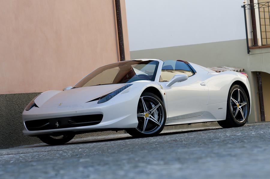 Ferrari 488 Spider roof down