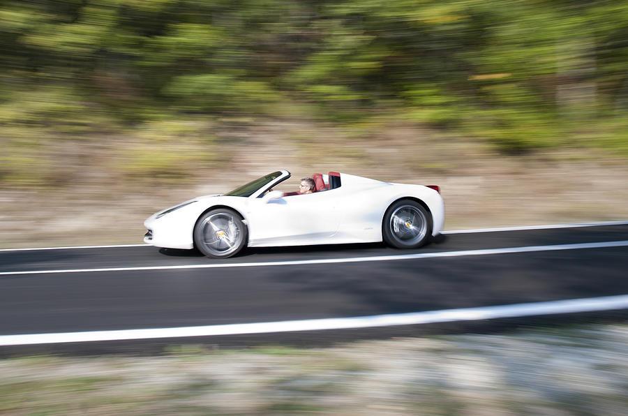 Ferrari 458 Spider cornering