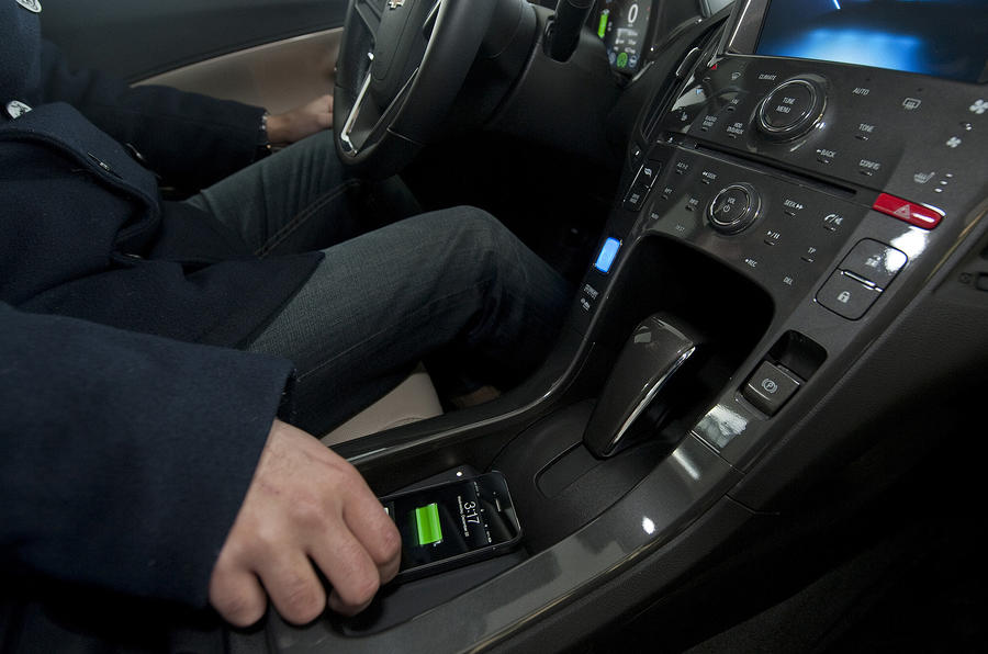 GM's in-car wireless charger | Autocar