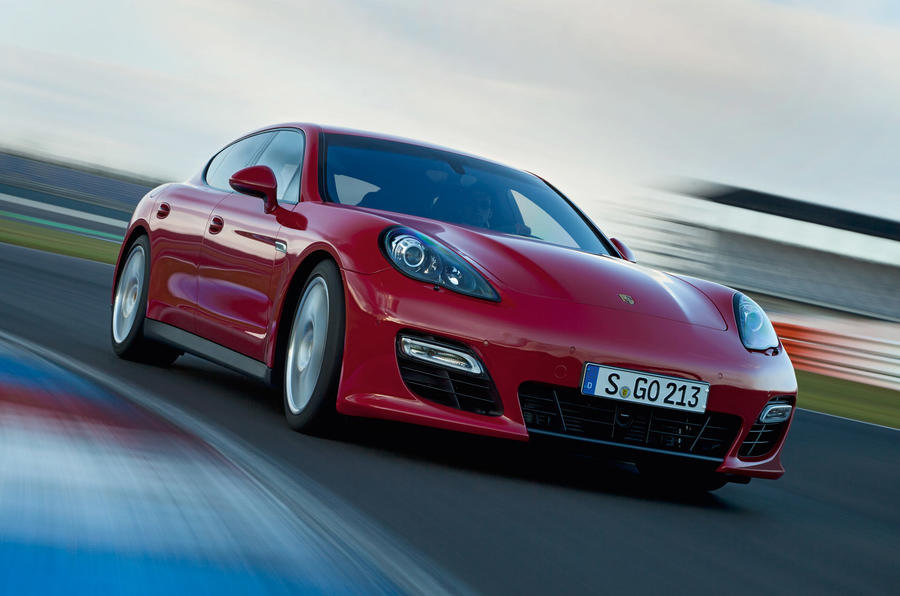 Porsche Panamera GTS cornering