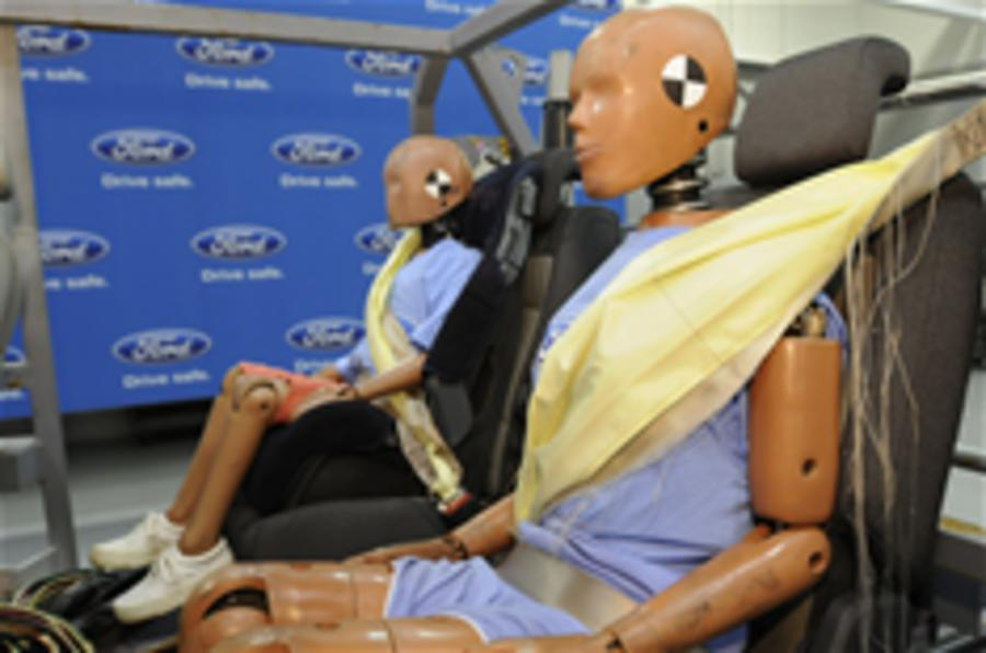 Ford creates inflatable seatbelt
