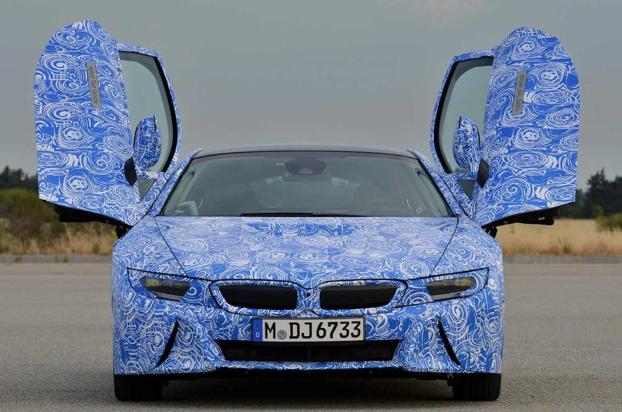 BMW i8 prototype doors open