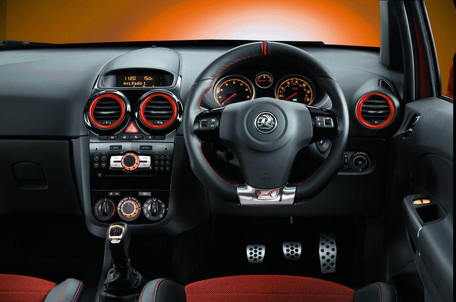 Vauxhall Corsa VXR Nürburgring dashboard
