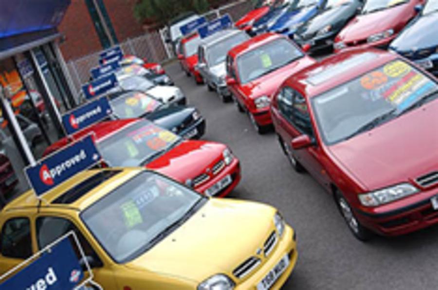 Used car prices tumble