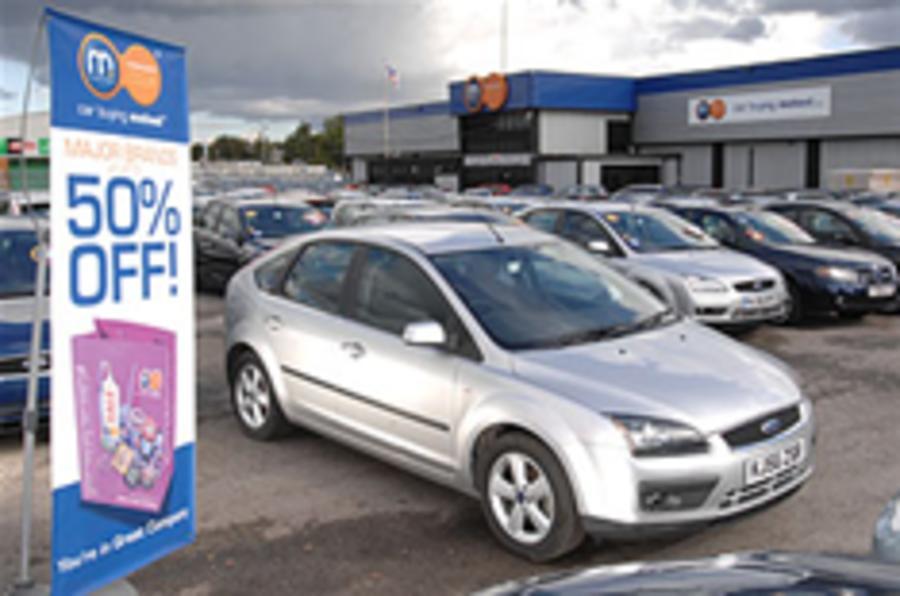 UK car sales slide