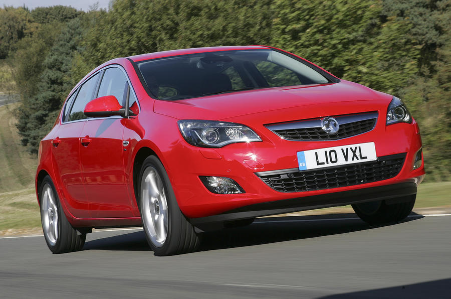 Vauxhall Astra front end