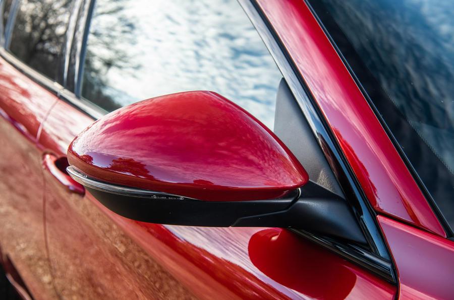 Alfa Romeo Stelvio Quadrifoglio 2019 road test review - wing mirrors