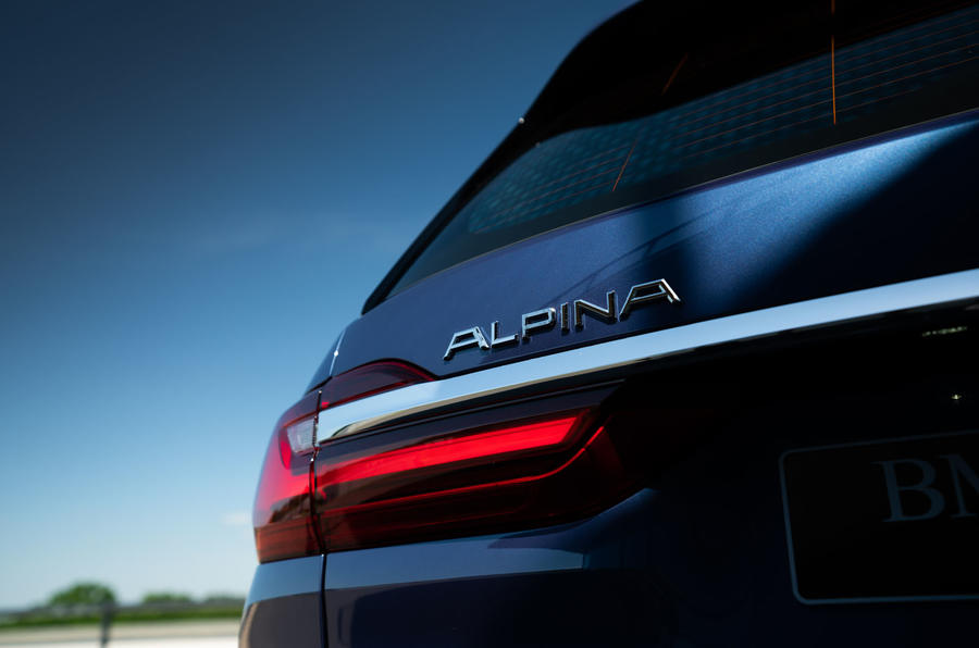 Alpina XB7 2020 road test review - rear lights
