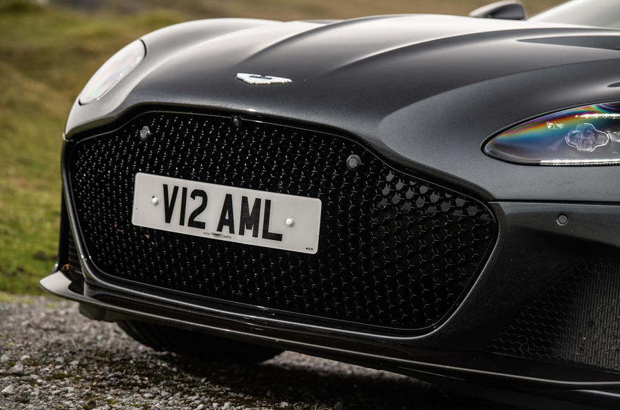 Aston Martin DBS Superleggera 2018 road test review - front grille