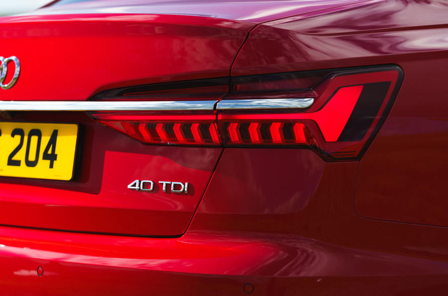 Audi A6 2019 road test review - rear lights