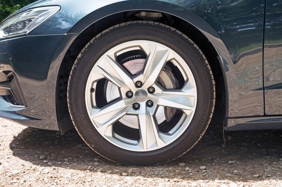 Audi A7 Sportback 2018 road test review alloy wheels