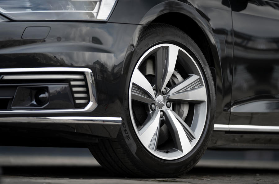 Audi A8 60 TFSIe 2020 road test review - alloy wheels