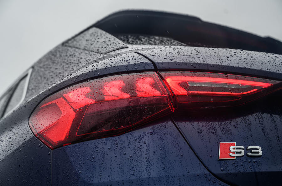 Audi S3 Sportback 2020 road test review - rear lights