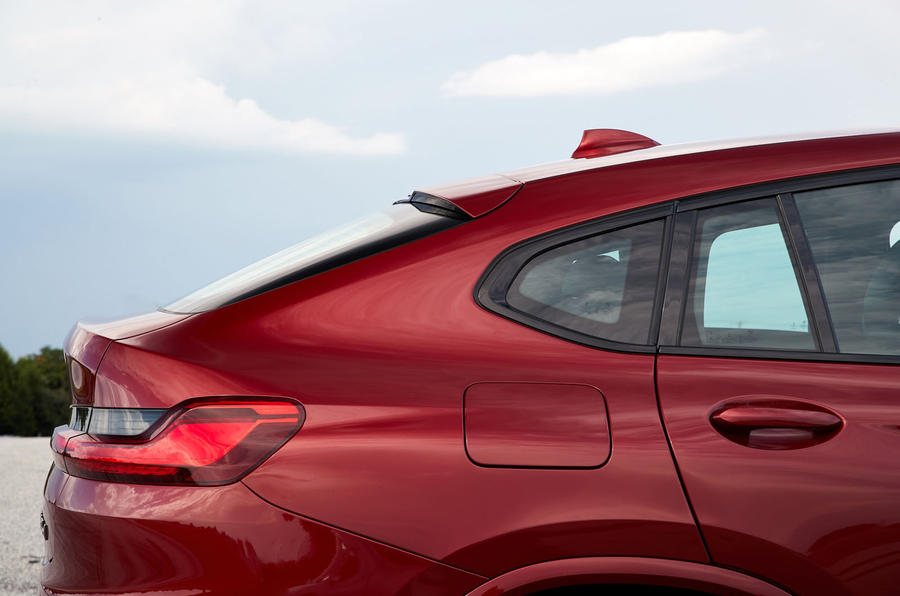 BMW X4 2018 road test review rear quarter panel
