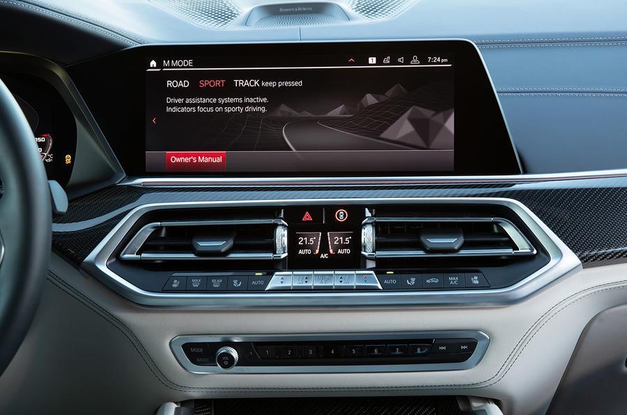 BMW X5 M Competition 2020 : examen des essais routiers - infotainment