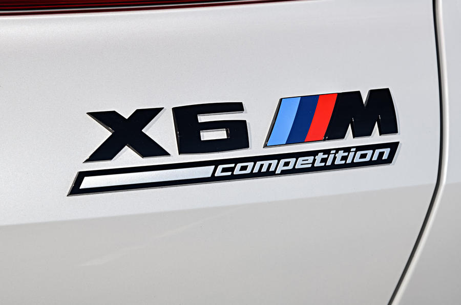 BMW X6 M Competition 2020 road test review - rear badge