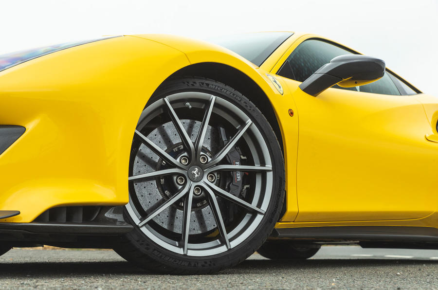 Ferrari 488 Pista 2019 road test review - alloy wheels