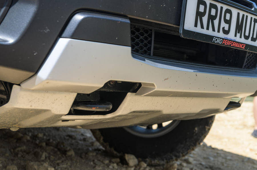 Ford Ranger Raptor 2019 road test review - tow bracket