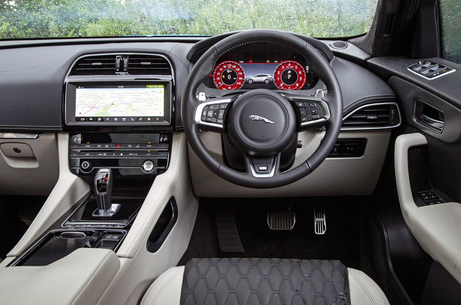 Jaguar F-Pace SVR 2019 road test review - dashboard