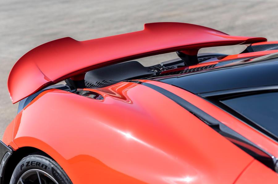 McLaren 765LT 2020 road test review - spoiler