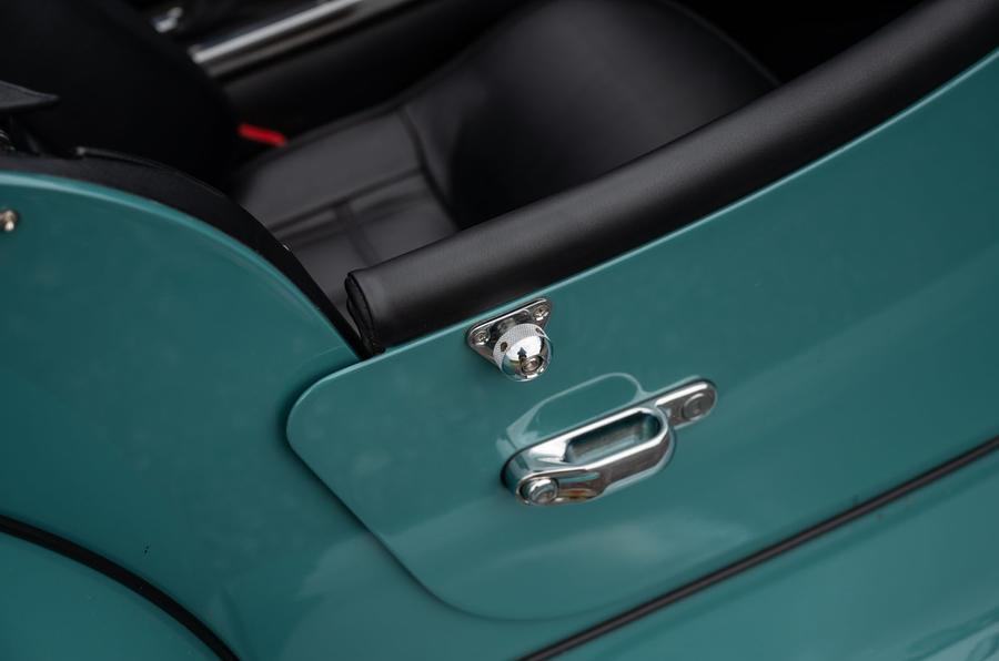 Morgan Plus Four 2020 road test review - door handles