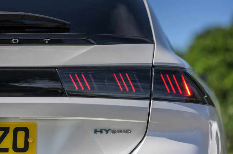Peugeot 508 SW Hybrid 2020 road test review - rear lights