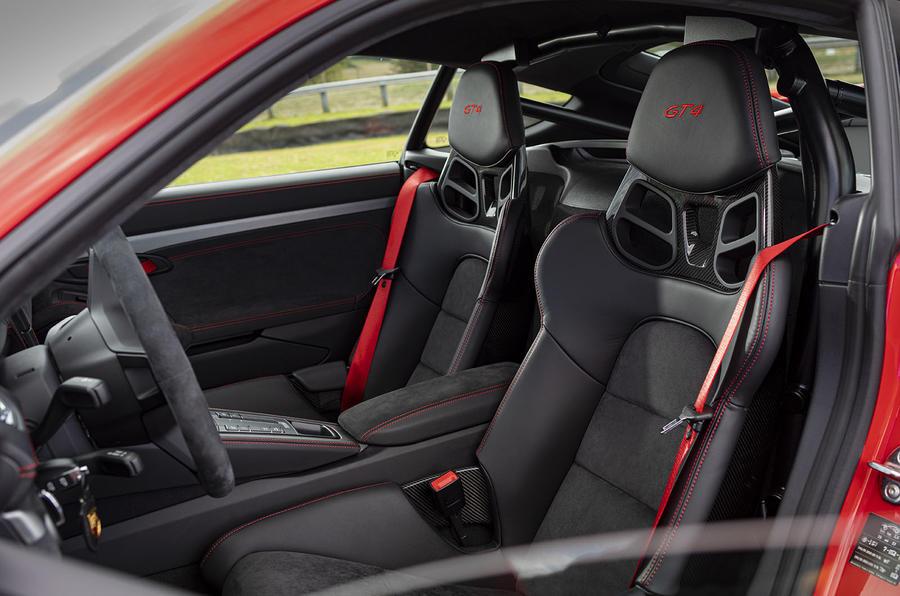 Porsche 718 Cayman GT4 2019 road test review - seats