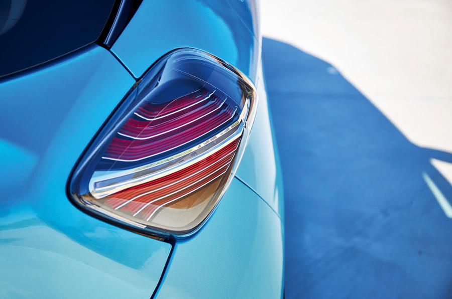 Renault Zoe 2020 road test review - rear lights