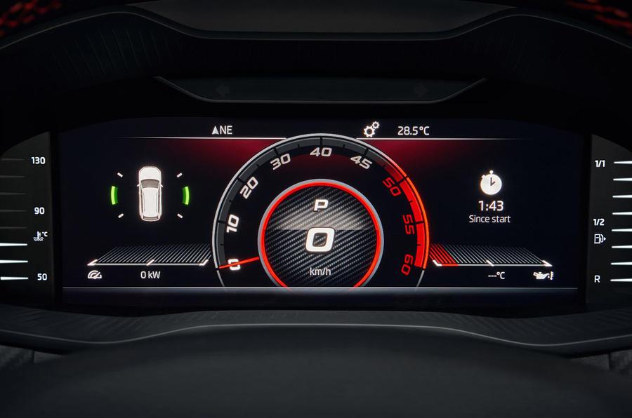 Skoda Kodiaq vRS 2019 road test review - digital instruments