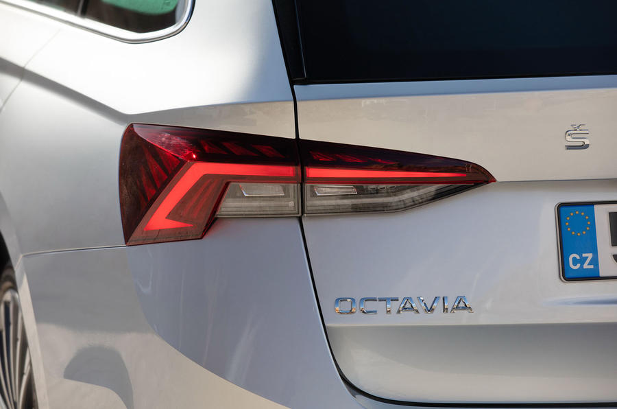 Skoda Octavia Estate 2020 road test review - rear lights