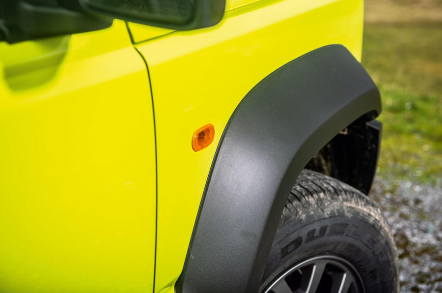 Suzuki Jimny 2018 road test review - wheel arches