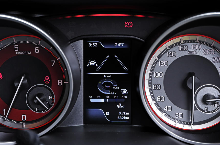 Suzuji Swift Sport Japan-spec review information screen
