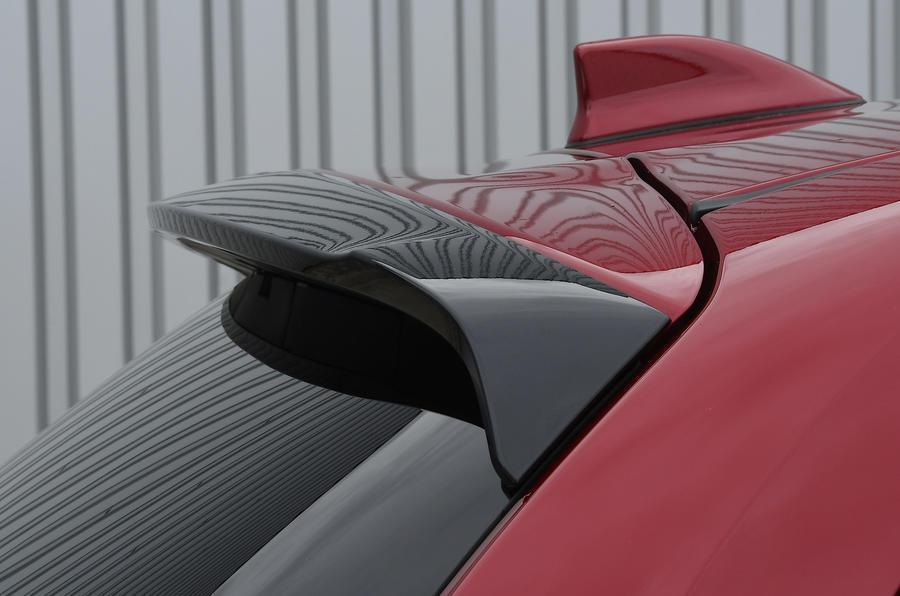 Revue de l'essai routier de la Toyota Yaris 2020 - spoiler