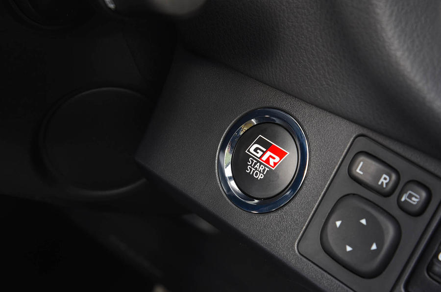Toyota Yaris GRMN engine start button