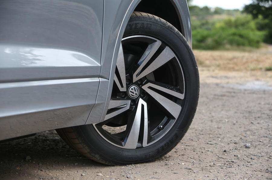 Volkswagen Touareg 2018 road test review alloy wheels
