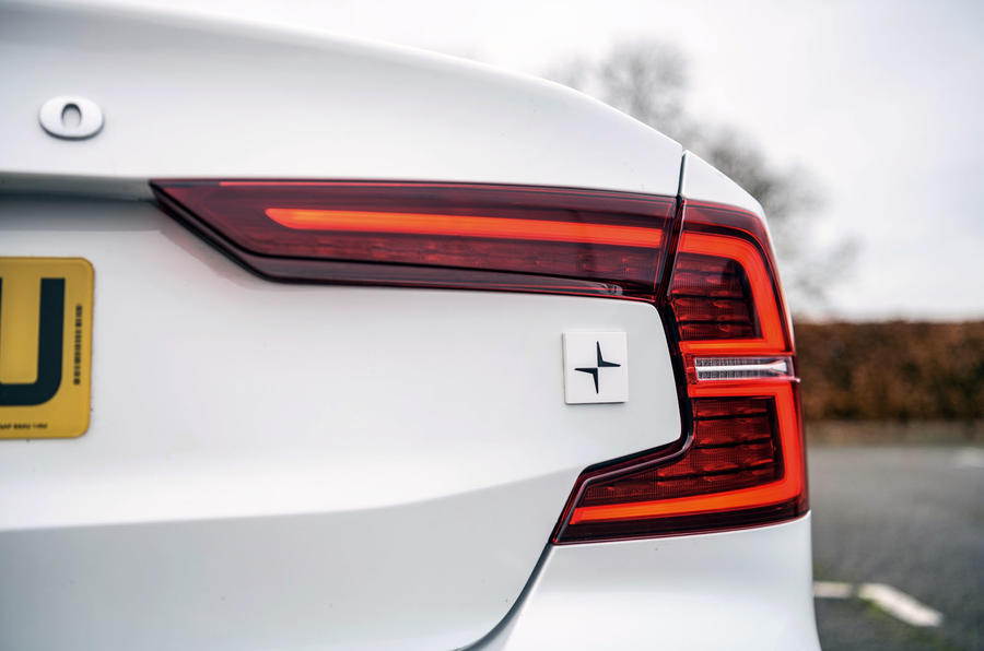 Volvo S60 Polestar Engineered 2020 road test review - rear lights