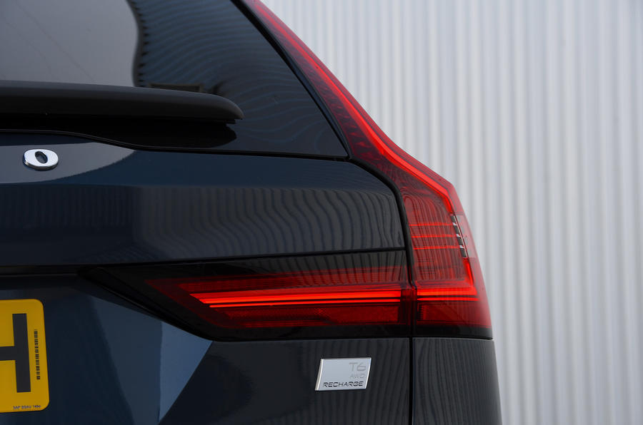 Volvo V90 T6 Recharge PHEV 2020 road test review - rear lights