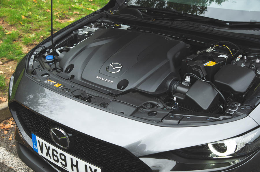 Mazda 3 Skyactiv-X 2019 road test review - engine