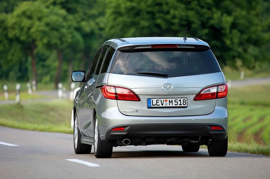 Mazda 5 rear cornering