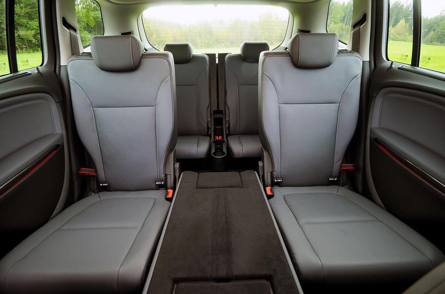 Vauxhall Zafira Tourer rear seats