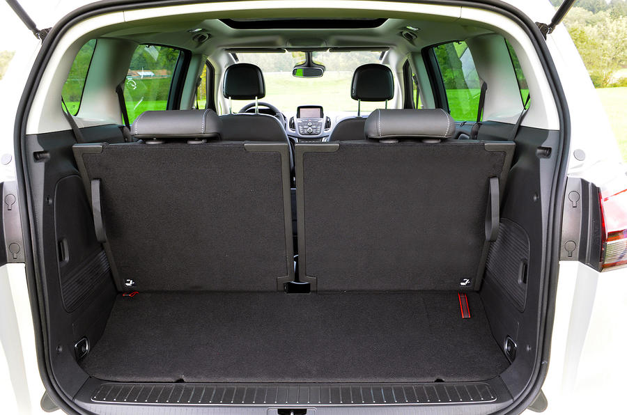 Vauxhall Zafira Tourer boot space