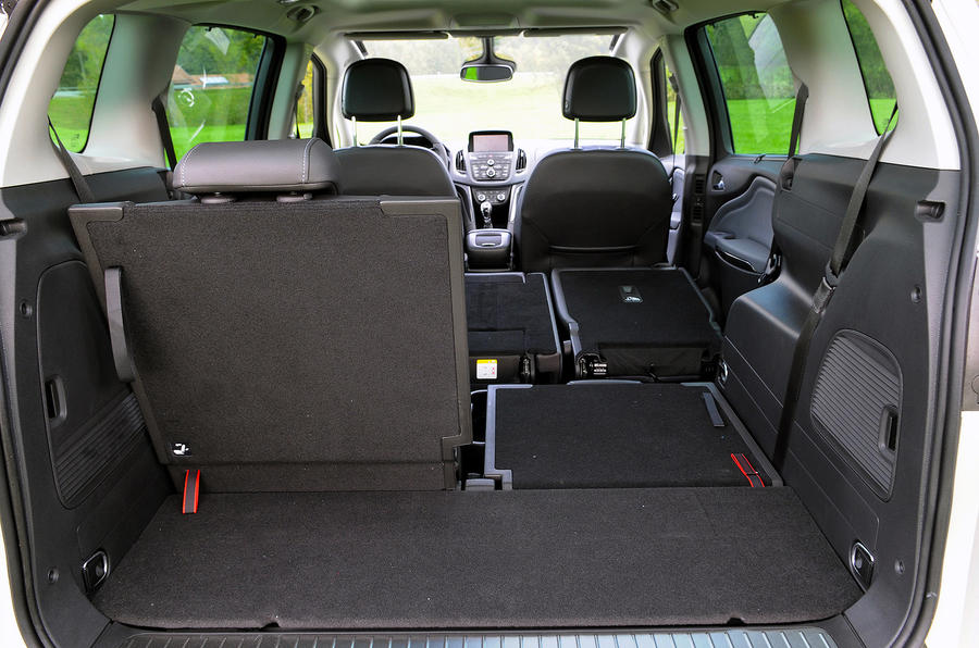 Vauxhall Zafira Tourer seating flexibility
