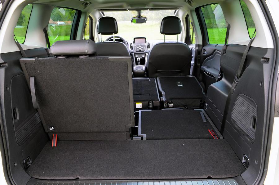 Vauxhall Zafira Tourer seating flexibility